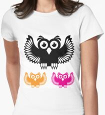 Vector Owl Women's Fitted T-Shirt
