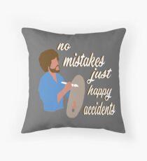 Happy Accidents Throw Pillow