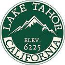 Skiing Lake Tahoe California Ski Snowboard Hiking Boating by MyHandmadeSigns
