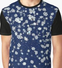 Snowflakes in space Graphic T-Shirt