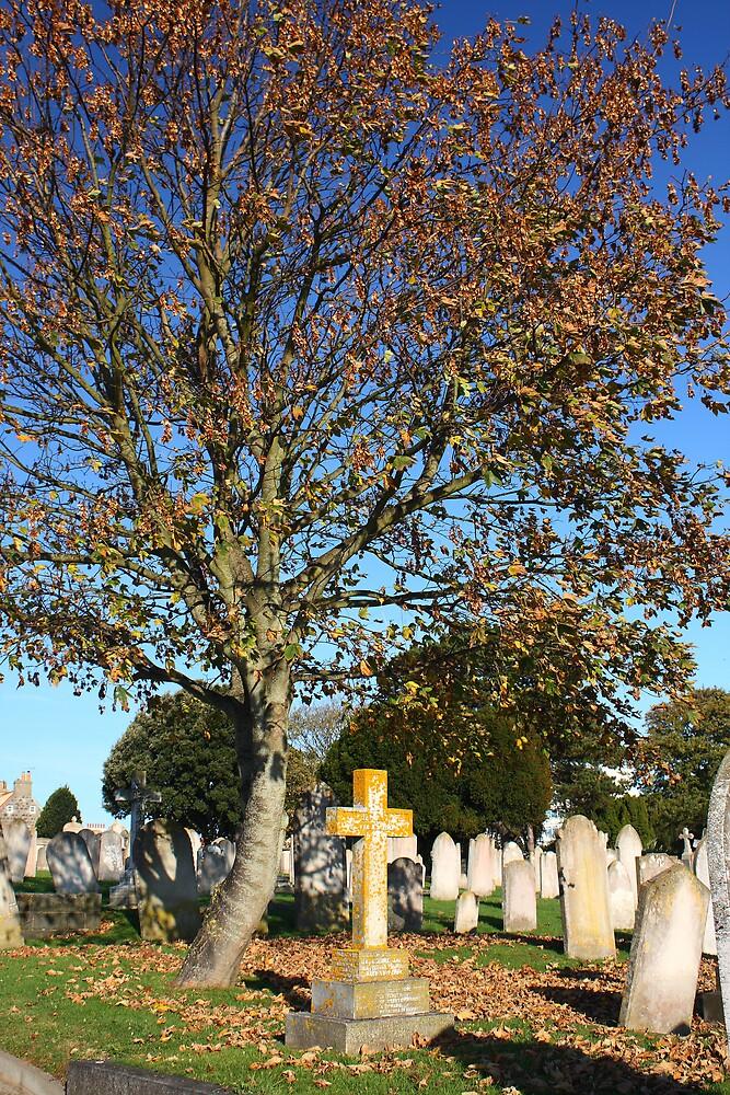 Autumn in the Cemetery by Karen Millard