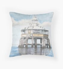 South Channel Pile Light Throw Pillow