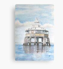 South Channel Pile Light Canvas Print