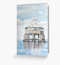 South Channel Pile Light Greeting Card