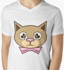 Cat Bowtie Men's V-Neck T-Shirt