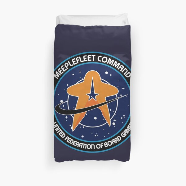 Meeple fleet - united federation of board games Duvet Cover