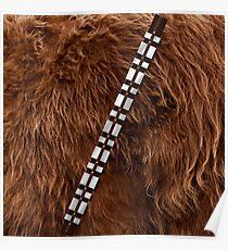 Chewbacca Chewie belt Furry Poster