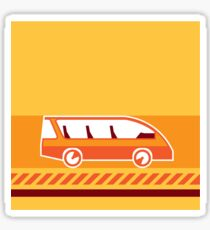 Orange Van Sticker