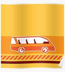 Orange Van Poster