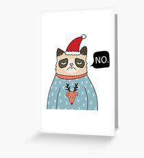 Grumpy Cat Christmas Greeting Card