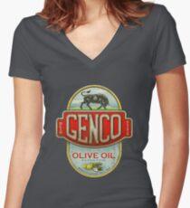 Der Pate - Genco Olivenöl Co. Shirt mit V-Ausschnitt