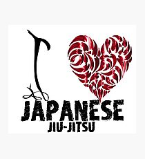 Japanese Jiu-Jitsu T shirt Design I Love japanese Jiu Jitsu Photographic Print