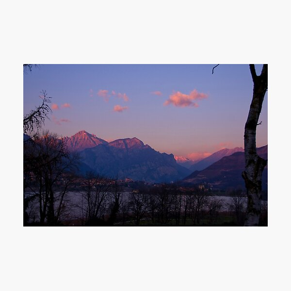 sunset on the alpes Photographic Print