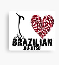 Brazilian Jiu Jitsu BJJ T shirt Design I Love BJJ Canvas Print
