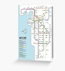 Witcher rail lines Greeting Card