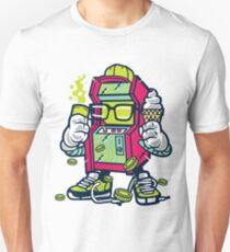 Arcade Gamer Geek Cartoon Character Unisex T-Shirt