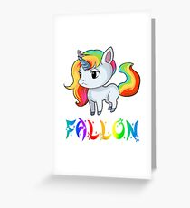 Fallon Unicorn Greeting Card