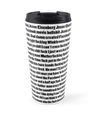 """WHO INVENTED FACEBOOK"" Travel Mugs by Baconmoop 
