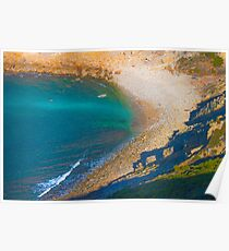 Lagosteiros beach view from Cabo Espichel. Poster