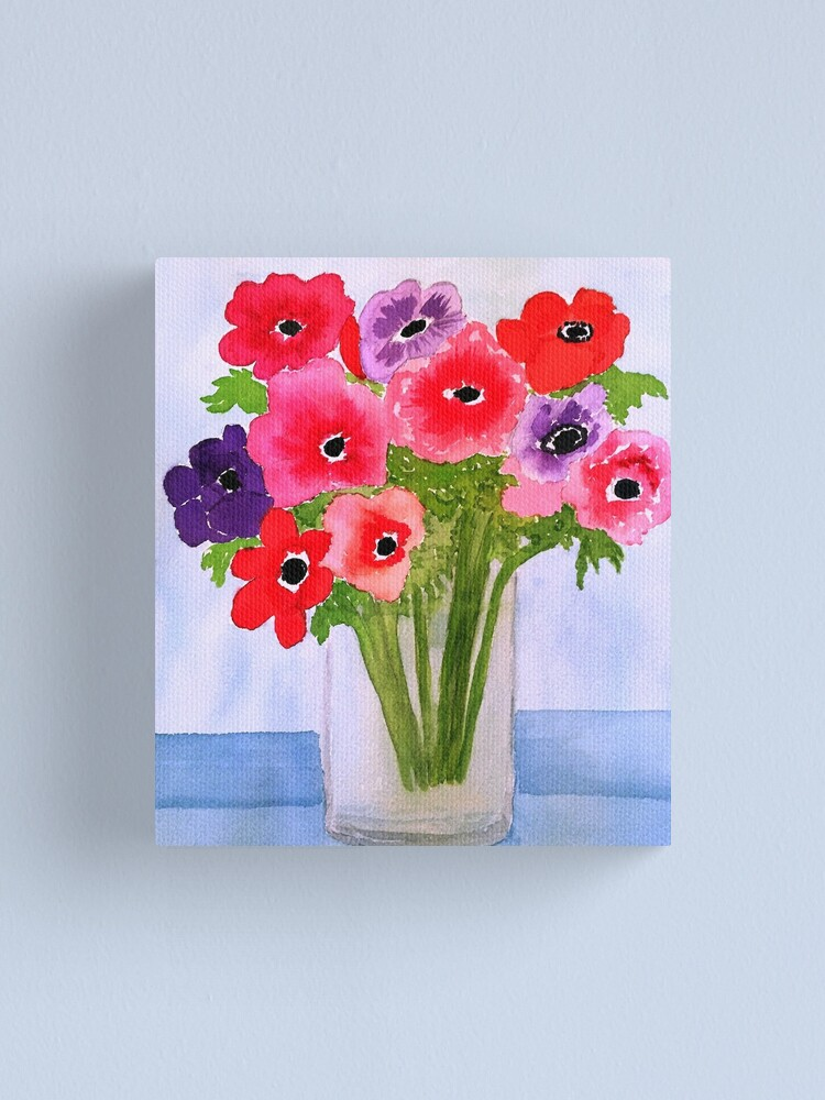 Alternate view of Anemone Arrangement Canvas Print