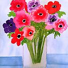 Anemone Arrangement by Charisse Colbert