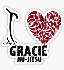 Gracie Jiu Jitsu T Shirt Design I Love Gracie Jiu Jitsu Sticker