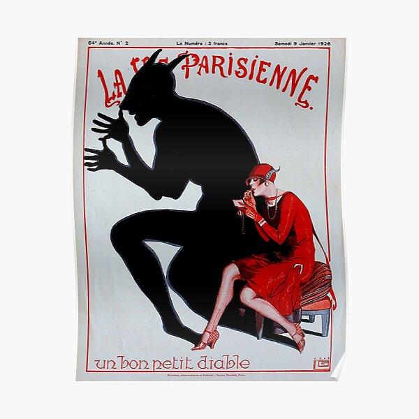 LA VIE PARISIENNE : Vintage French Magazine Cover Prints Poster
