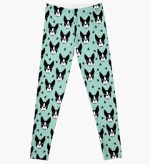 Boston Terrier - Minze Leggings