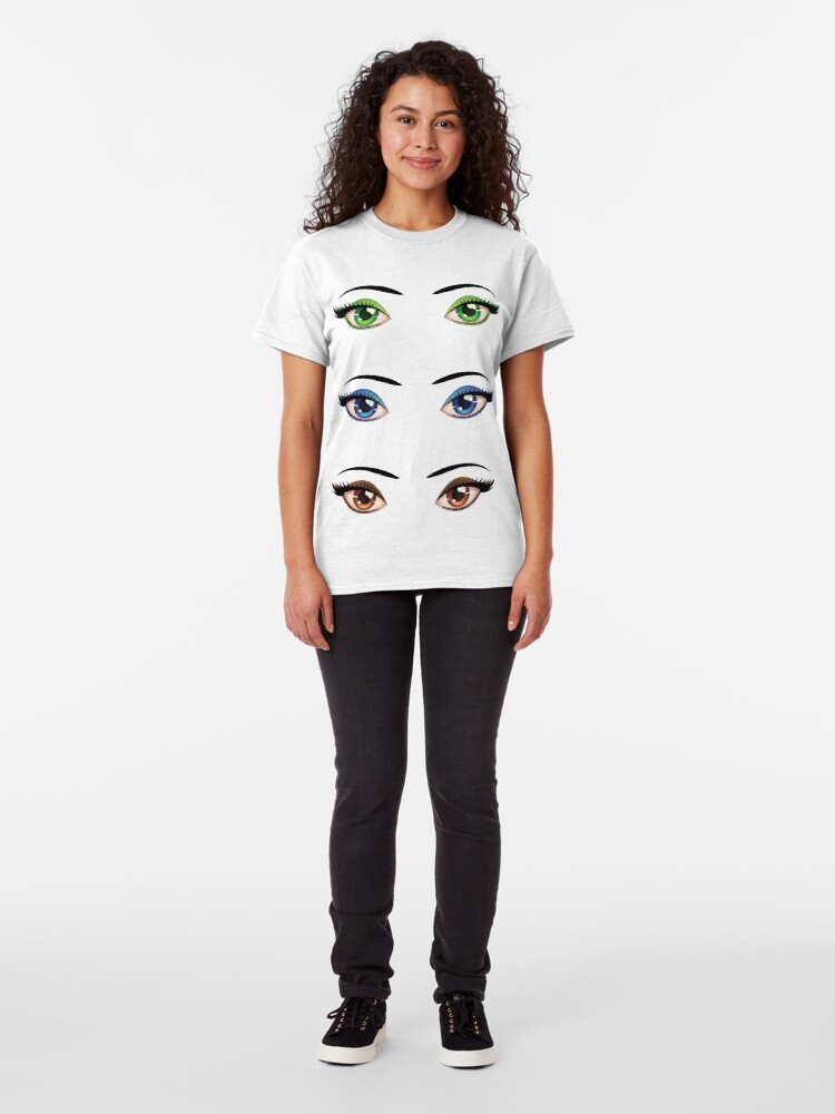 Alternate view of Cartoon female eyes 4 Classic T-Shirt