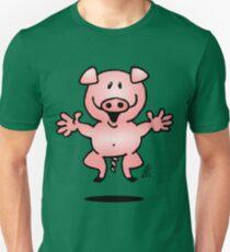 Cheerful little pig Unisex T-Shirt