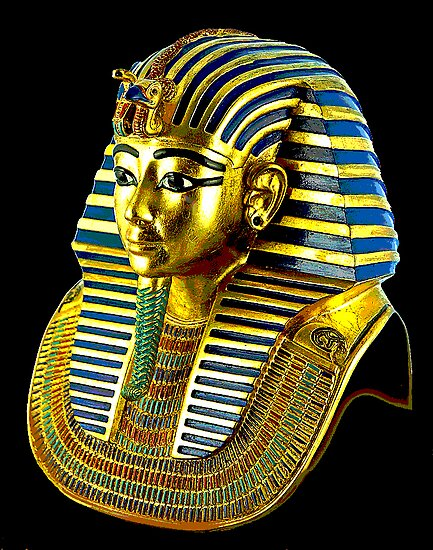 King tuts death mask by jharwick redbubble for King tut mask template