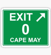 Exit 0 Cape May Sticker