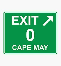 Exit 0 Cape May Photographic Print