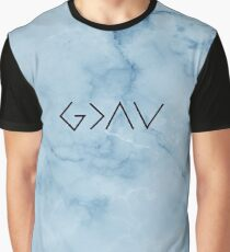 God Is Higher Than Highs And Lows - Christian Quote - Blue Marble Graphic T-Shirt
