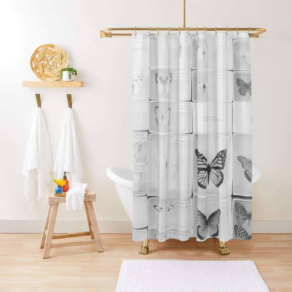 Lepidopterology Shower Curtain