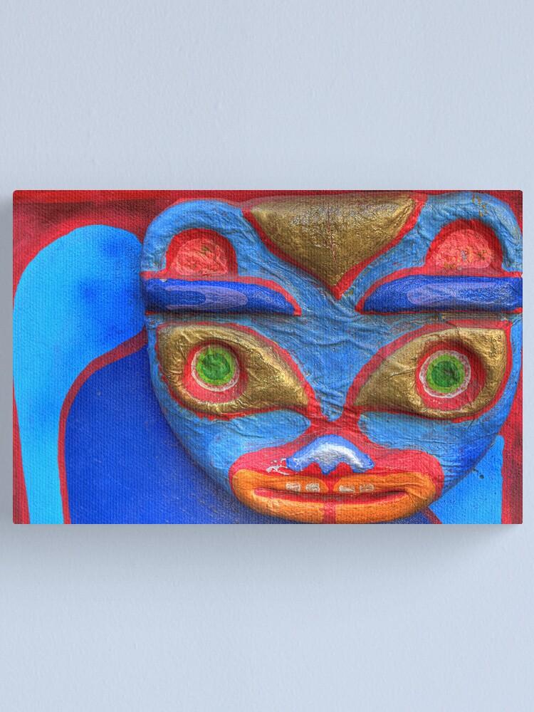 Alternate view of Blue Cat Canvas Print