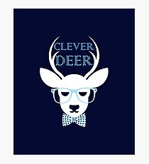 Clever Deer Photographic Print