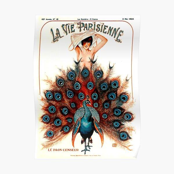 LA VIE PARISIENNE : Vintage 1925 Magazine Advertising Print Poster