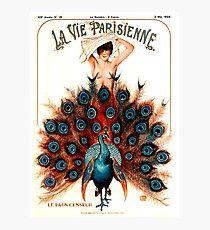 LA VIE PARISIENNE : Vintage 1925 Magazine Advertising Print Photographic Print