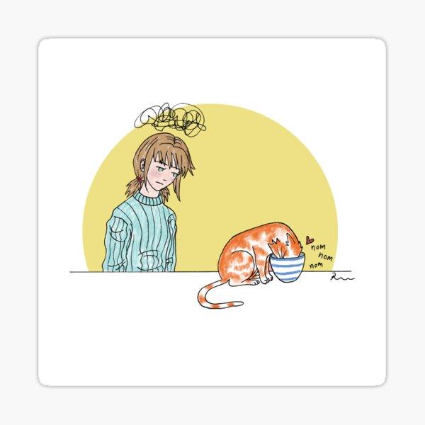 Bowl Cat Sticker
