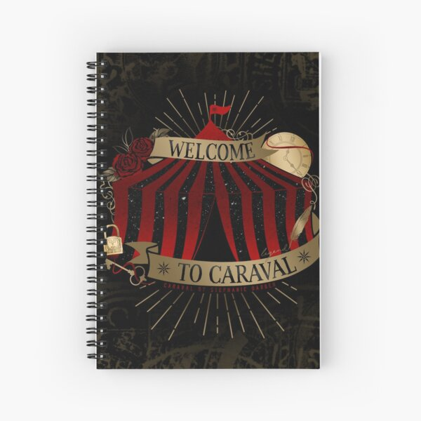 Welcome To Caraval Spiral Notebook