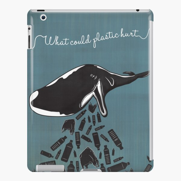 What Could Plastic Hurt? Whale by Sarah Pinc iPad Snap Case