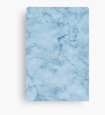 God is greater than the highs and lows - Christian Quotes - Blue Marble Canvas Print