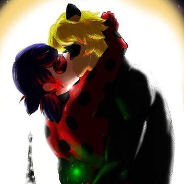 Ladynoir kiss - Miraculous Ladybug by oceaneplrd