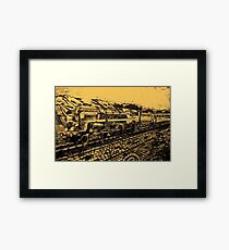 A digital painting of my pencil drawing of The Last of the British Rail Steam Locomotives 1960 Framed Print