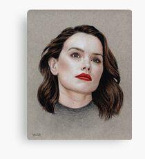 Daisy Ridley coloured pencil portrait Canvas Print