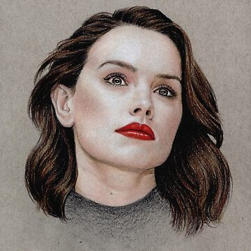 Daisy Ridley coloured pencil portrait by wu-wei