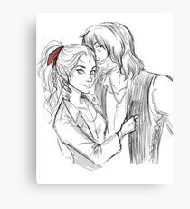 Red Bandana In Her Hair Canvas Print