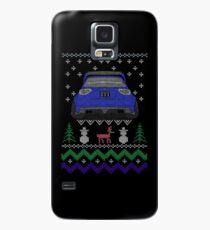 Ugly Sweater Christmas Subaru Impreza WRX STI (Blue) Case/Skin for Samsung Galaxy