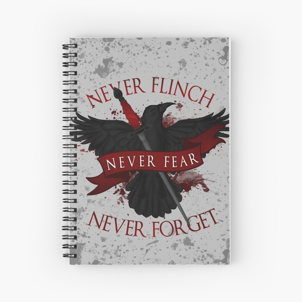 'Nie zurückschrecken, niemals fürchten, niemals vergessen' Über Nacht Spiralblock